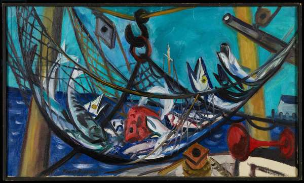 Still Life (Caught in the Net I), 1949 (oil on canvas)