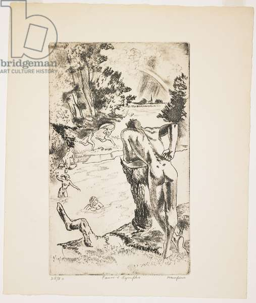 Faun and Nymphs, 1915-1982 (etching & soft-ground)