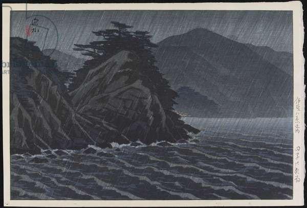 Night Rain at Tago, 1938