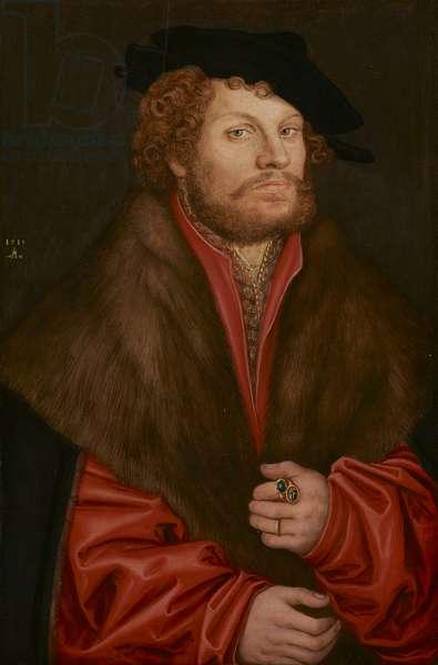 Portrait of Moritz Buchner, c.1520 (oil on panel) (see also 3710992)