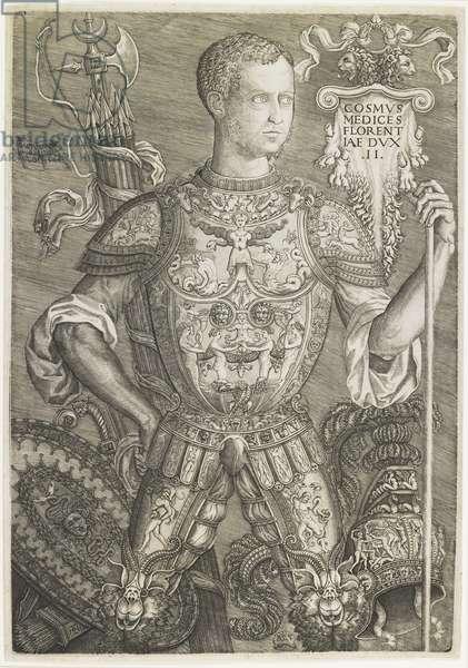 Cosmo I de Medici, engraved by Niccolo della Casa (fl. c.1543-48), 1544 (engraving)