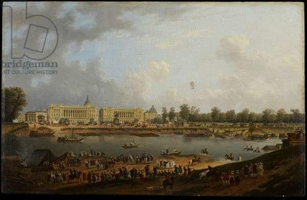 Place de la Concorde, c.1783 (oil on panel)