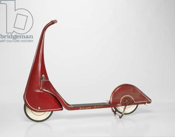 """Skippy-Racer"" scooter, c.1933 (steel, paint, wood, rubber)"