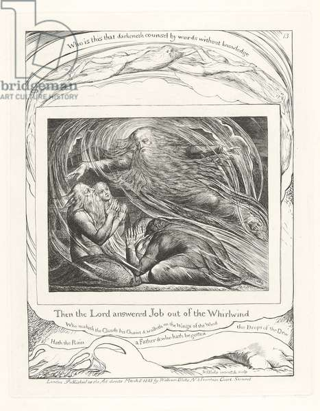 Then the Lord answered Job out of the Whirlwind, 1825