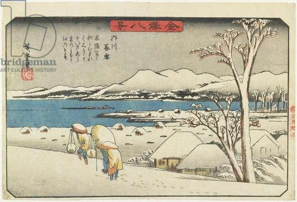 """Evening Snow at Uchikawa"", 1835-1836"