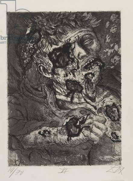 Sterbender Soldat (Dying Soldier), plate 26 from Der Krieg (The War), 1924