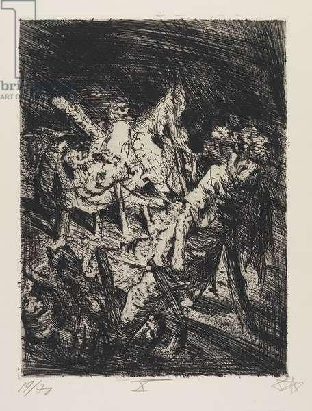 Drahtverhau vor dem Kampfgraben (Wire Entanglement before the Trench), plate 30 from Der Krieg (The War), 1924