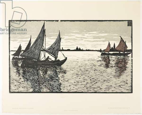 Abend vor Venedig, 1910 (1911) (colour woodcut)