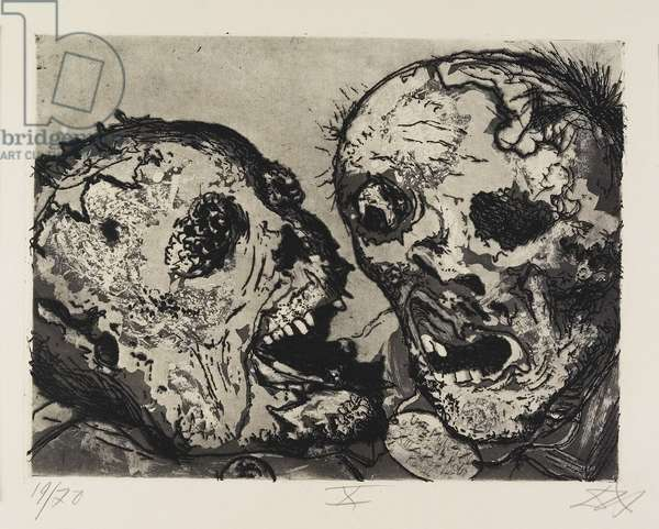Tote vor der Stellung bei Tahure (Corpses Before the Position near Tahure), plate 50 from Der Krieg (The War), 1924
