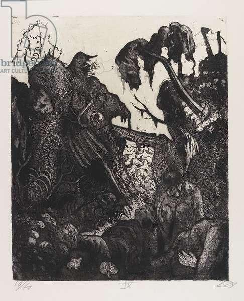 Zerfallender Kampfgraben (Destroyed Combat Trench), plate 9 from Der Krieg (The War), 1924