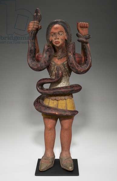 Mami Wata figure, 1950s (wood & pigment)