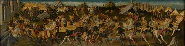 Scipio Africanus Defeating Hannibal, c.1470 (tempera on fabric mounted on panel) (see also 488155)