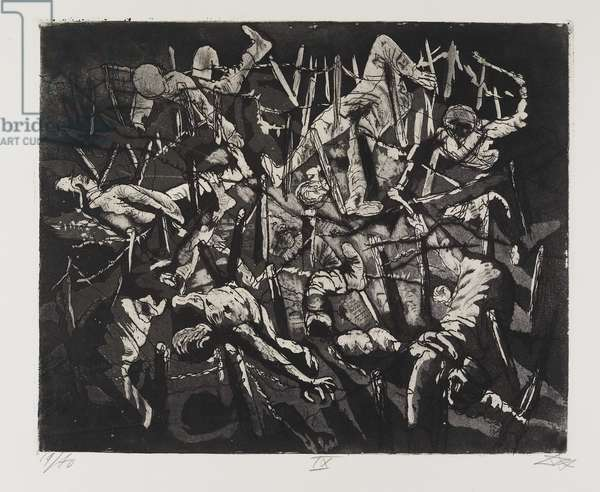 Totentanz anno 17 (Höne Toter Mann) (Dance of Death, the year 17 [Dead Man's Hill]), plate 19 from Der Krieg (The War), 1924