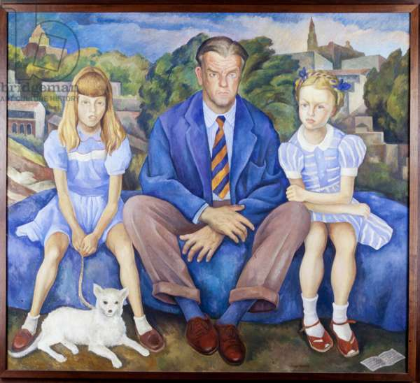Portrait of the Knight Family, 1946 (oil on canvas)