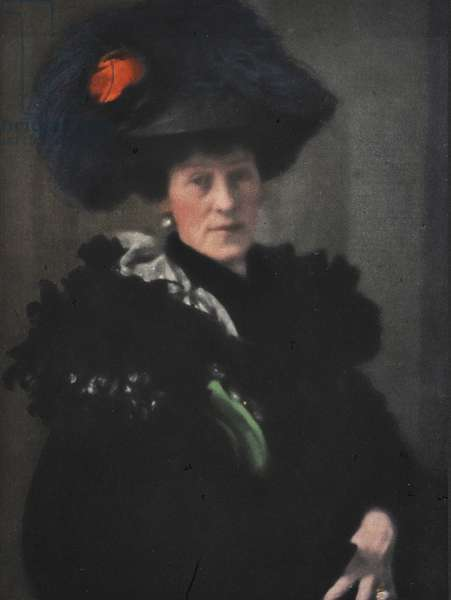 Portrait of Lady H, 1908 (colour halftone print)