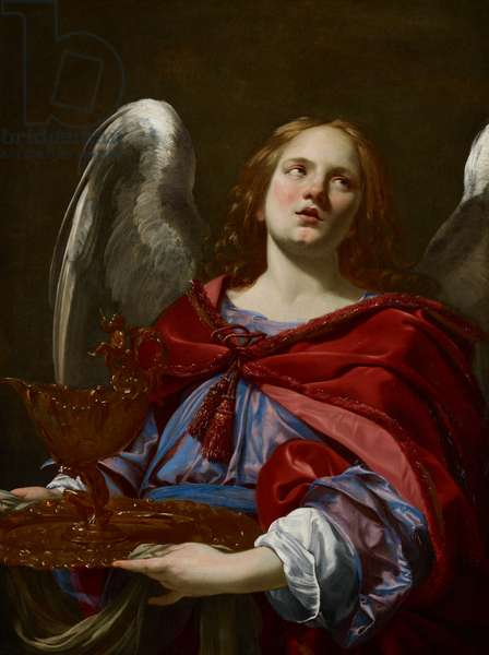 Angels with Attributes of the Passion: Angel Holding the Vessel and Towel for washing the hands of Pontius Pilate, c.1624 (oil on canvas)