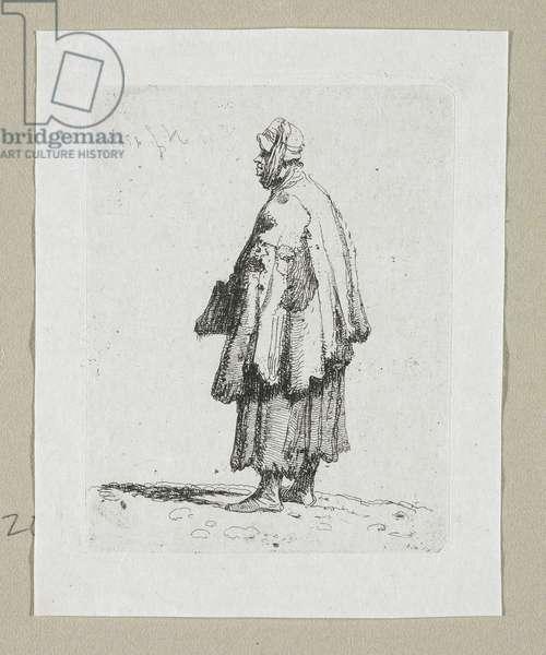 Woman Beggar Facing Left, 1787