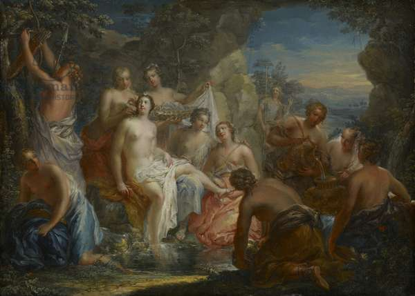 The Bath of Diana, c.1730 (oil on copper)