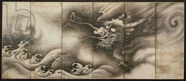 Dragon [right of the pair Dragon and Tiger], mid 16th century (ink on paper) (see also 6114495)