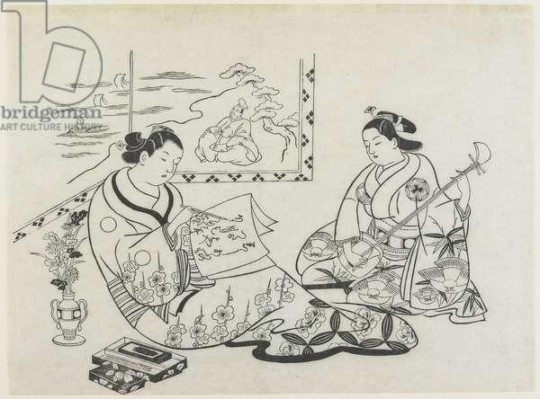 (Mitate of Matsukaze and Murasame), c. 1704-1706