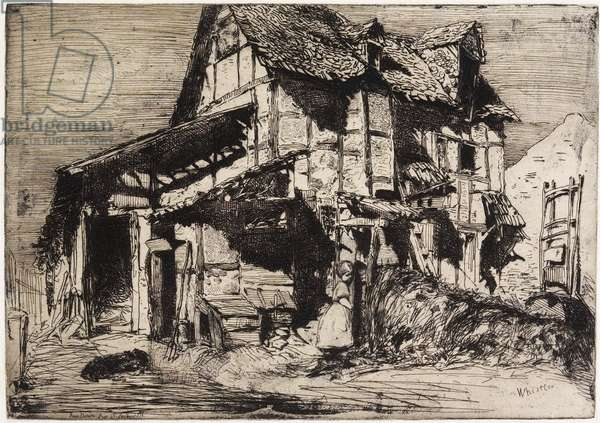 """The Unsafe Tenement from """"Twelve Etchings from Nature"""", 1858"""