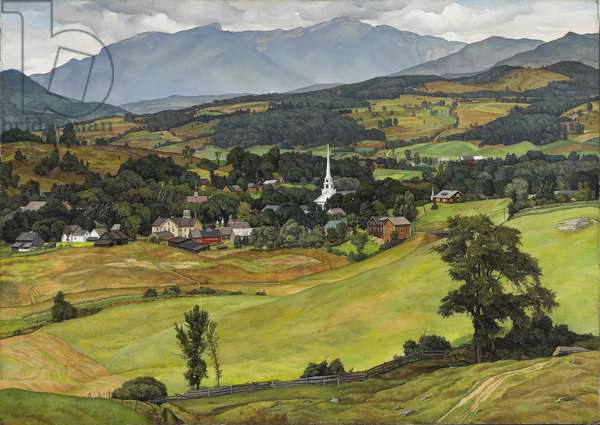 Village of Stowe, Vermont, 1931 (oil on canvas)