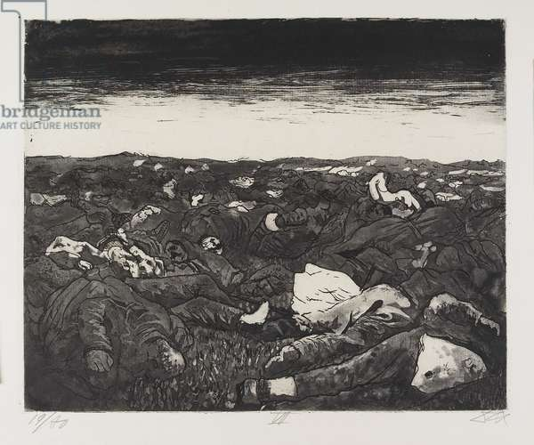 Abends in der Wijtschäte-Ebene (Evenings on the Wijtschäte Plain), plate 27 from Der Krieg (The War), 1924