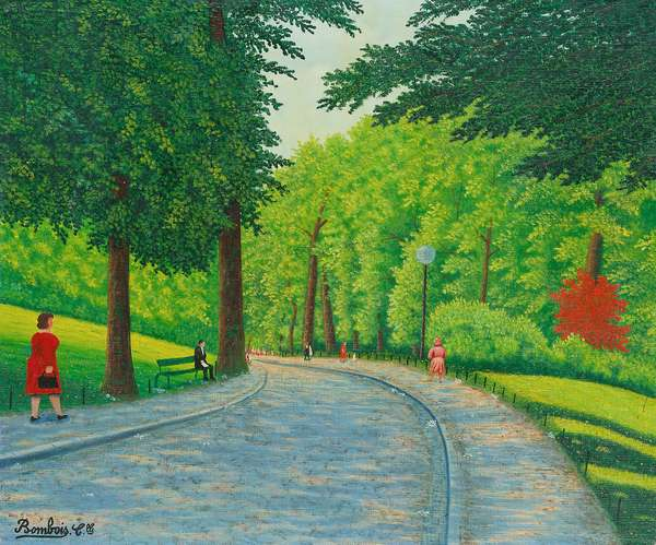 In the Bois du Boulogne (oil on canvas)