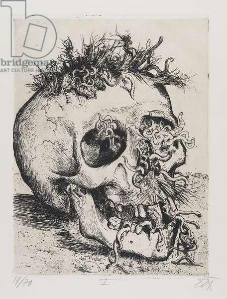 Schädel (Skull), plate 31 from Der Krieg (The War), 1924