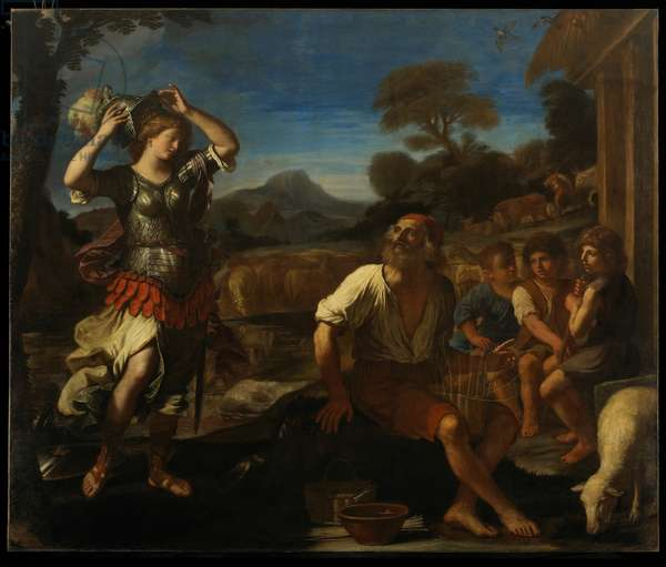 Erminia and the Shepherds, 1648 (oil on canvas)