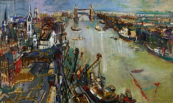 Tower Bridge, London, 1925 (oil on canvas)