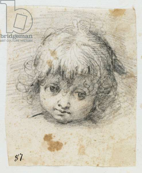 Portrait of a Child (black chalk)
