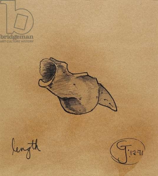 Length, 1971 (pen & ink)