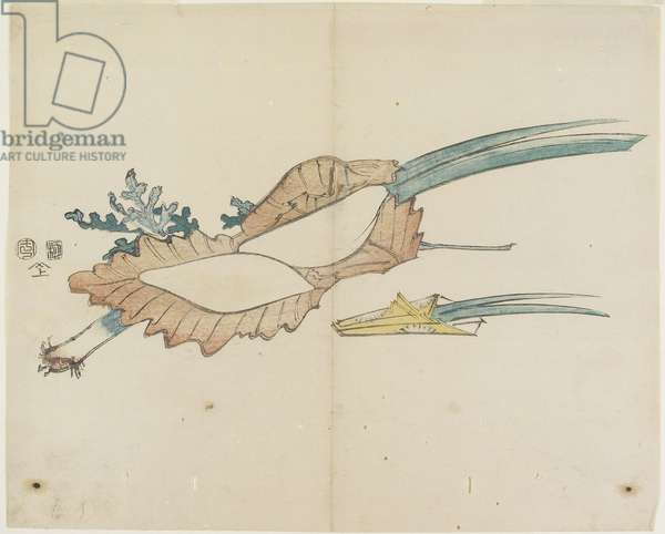 (Rice Cake and Iris Leaves for the Boy's Fetival), 1841