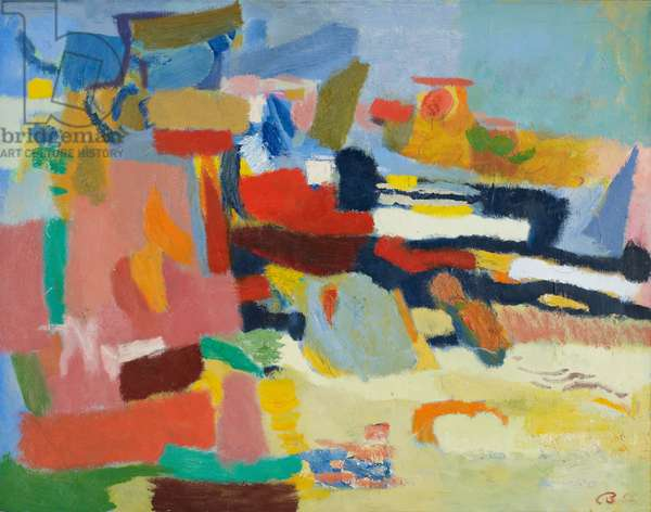 Bad Lands, 1955 (oil on canvas)