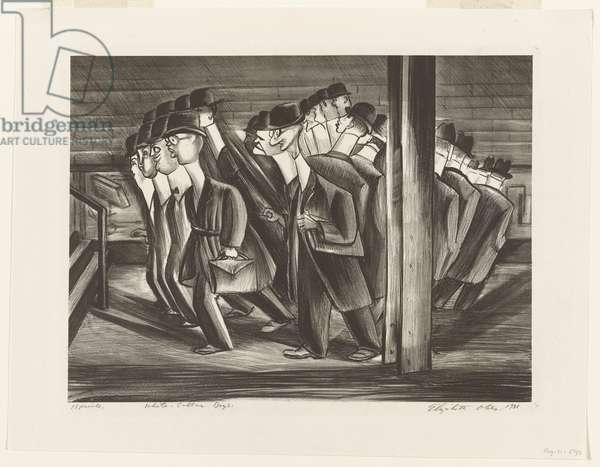White Collar Boys, 1936 (litho)