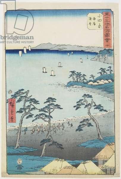 No.10 Fishermans House on a Beach, Odawara, July 1855
