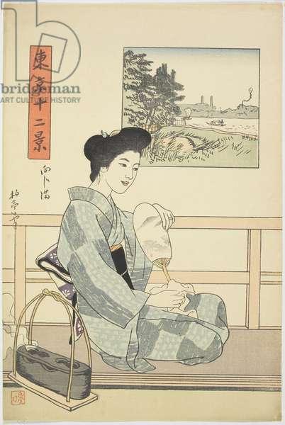 Mukōjima, c. 1914-16 (colour woodblock print)