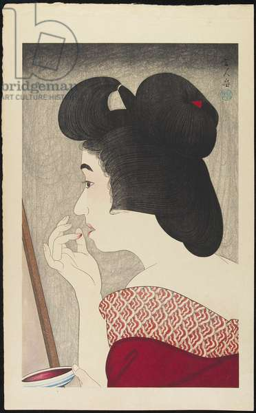 Lip Rouge, 1929 (colour woodblock print)