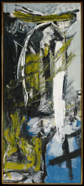 Landscape with Cross, 1957 (oil on board)