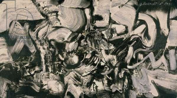 One Less, 1959 (acrylic on canvas)