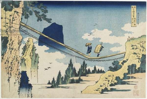 """Suspension Bridge between Hida and Etchu_ Provinces"", 1833-1834"