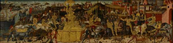 The Triumph of Scipio Africanus, c.1460 (tempera on fabric mounted on panel) (see also 488154)