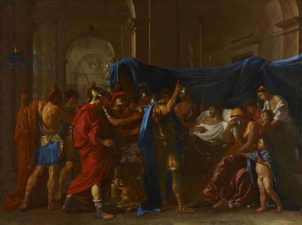 The Death of Germanicus, 1627 (oil on canvas)