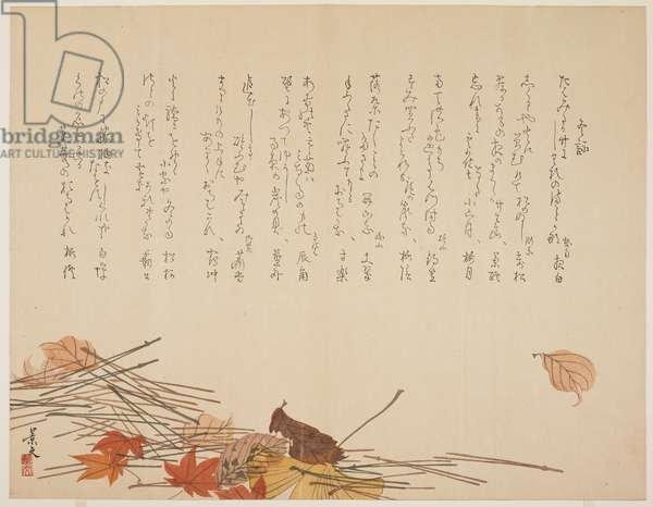 Autumn Leaves and Pine Needles, 1821