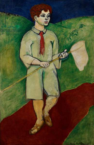 Boy with a Butterfly Net, 1907 (oil on canvas)