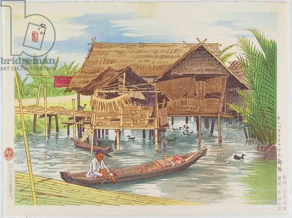 Outskirts of Makassar in Celebes, 1943