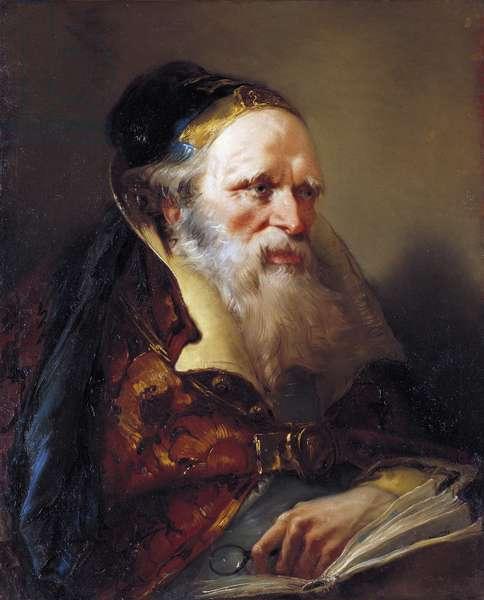 Head of Philosopher, c.1750-60 (oil on canvas)