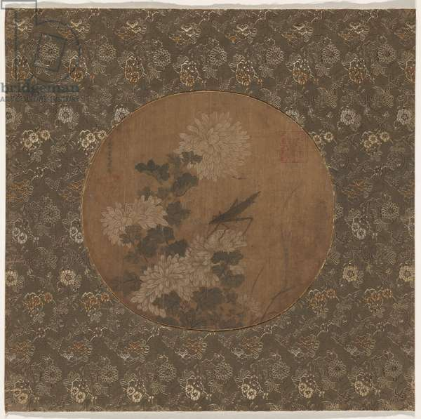 Chrysanthemums, 13th-14th century (ink & colour on fabric)