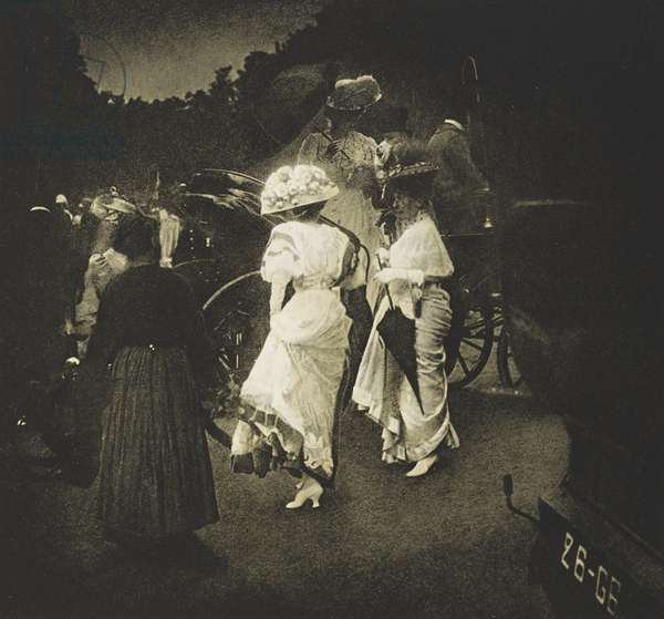 Steeplechase Day, Paris; After the Races, 1913 (photogravure)